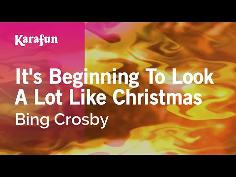 Karaoke It's Beginning To Look A Lot Like Christmas - Bing Crosby *