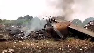 Самолет АН-26 перевозивший деньги разбился в Судане.