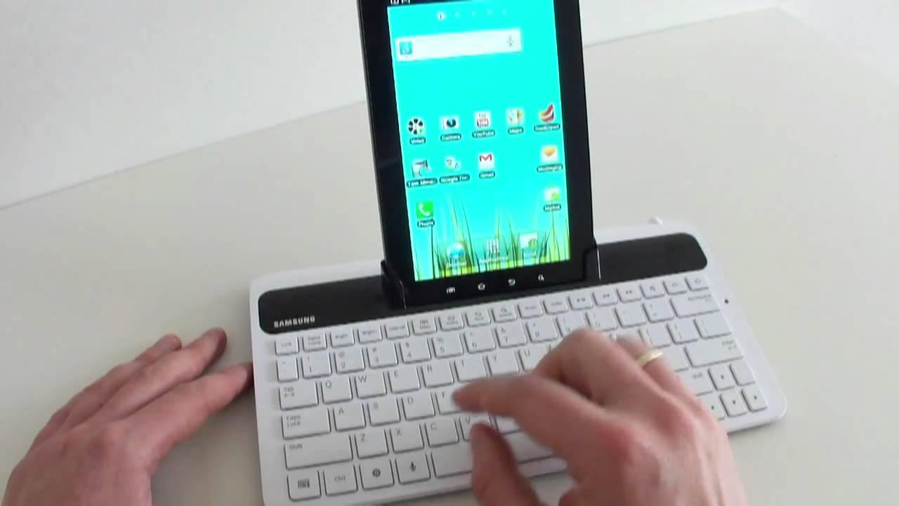 samsung galaxy tab keyboard dock   hands on   youtube