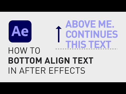 How to bottom align text in After Effects