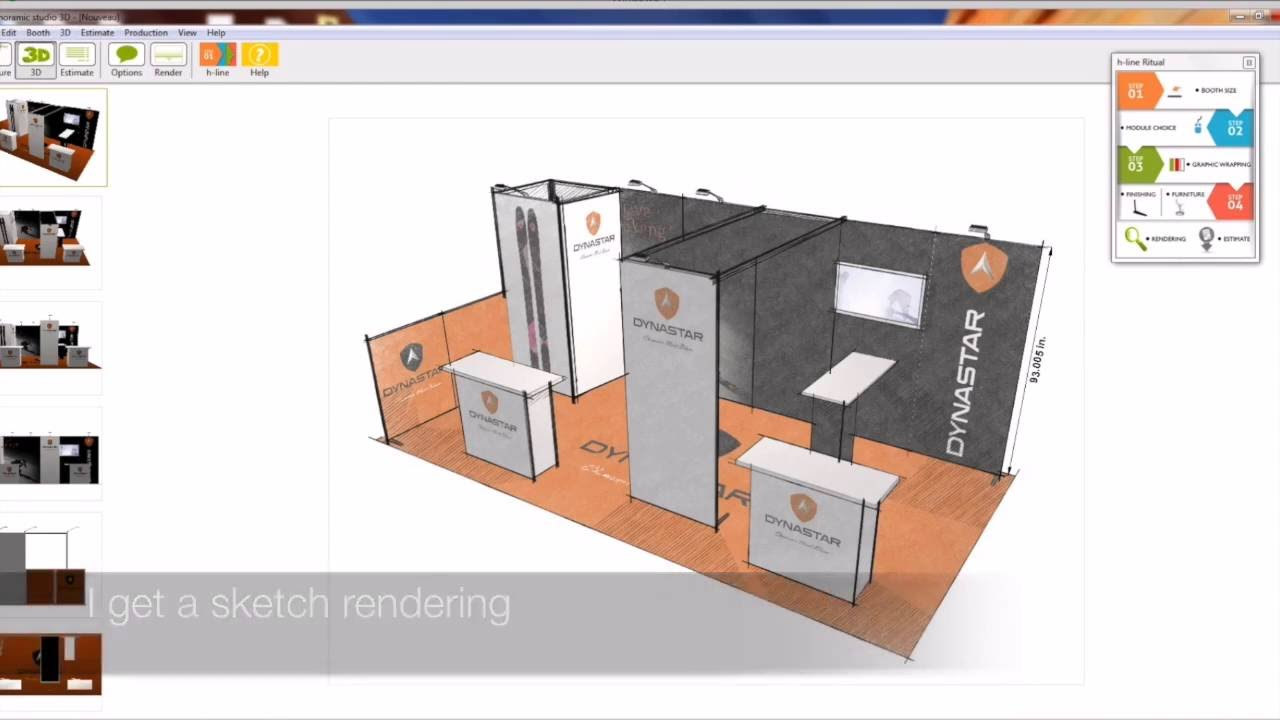 3d Exhibition Software : Panoramic studio d configurator of exhibition stands