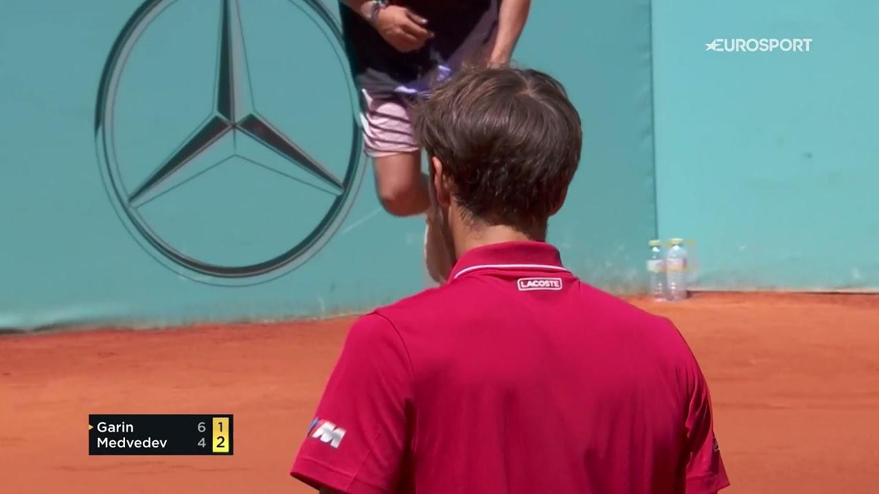 Даниил Медведев v Кристиан Гарин. Поражение первой ракетки России в 3-м круге «Мастерса» в Мадриде