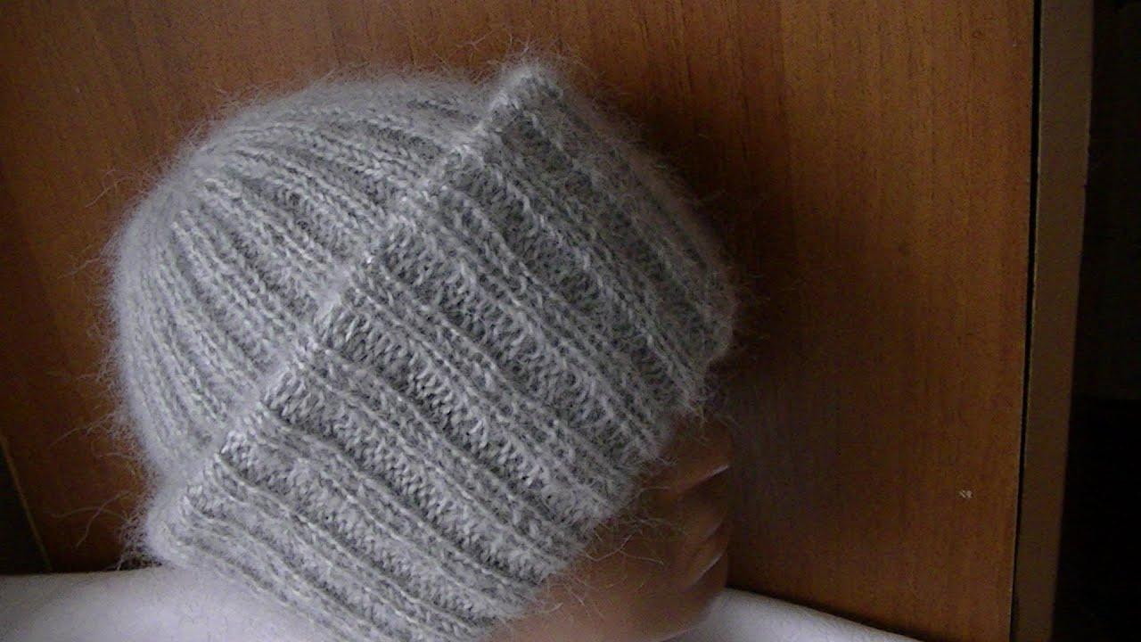 Схема вязания объемной шапки с отворотом фото 252