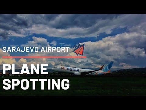 Sarajevo airport - Plane spotting - Landings