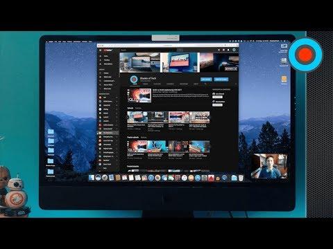 "Youtube DARK theme?! so cool on my CUSTOM Space Grey iMac ""PRO""!"