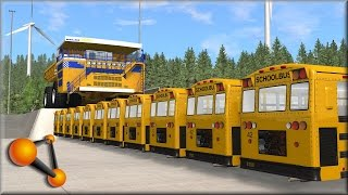BeamNG Drive Insane Bus Crashes #1