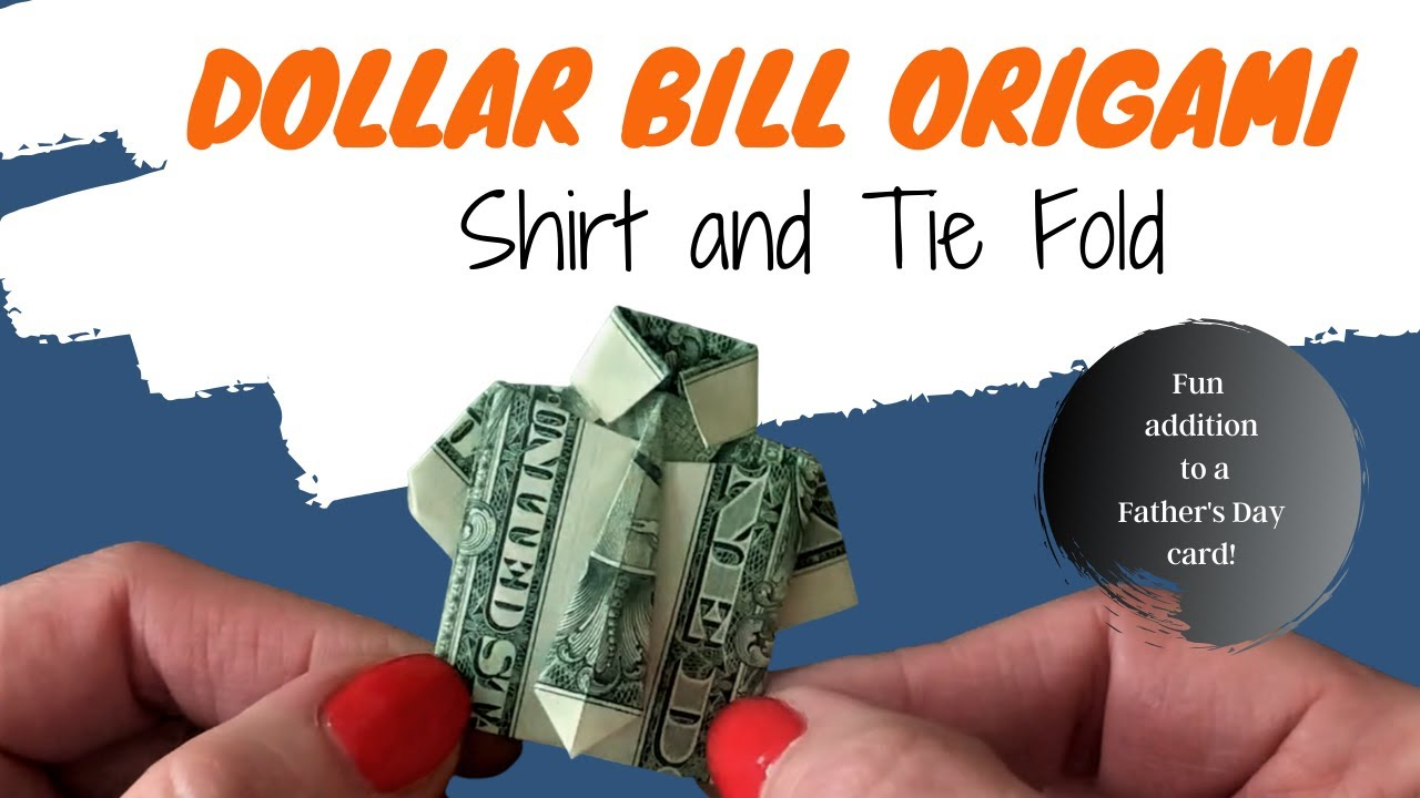 how to fold a dollar bill into a shirt | Dollar origami, Dollar ... | 720x1280