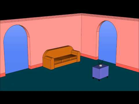Perfect The Simpsons Living Room (sketch Up)