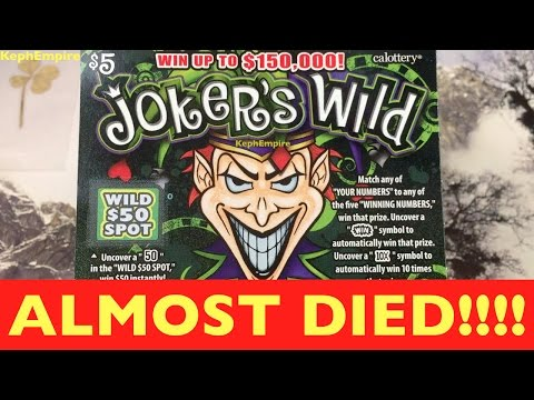 WE ALMOST DIED!!! THE WIN RECORD LIVES ON! Jokers Wild $5 California Lottery Scratcher