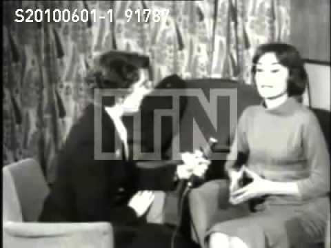 Actress Audrey Hepburn interviewed ENGLAND
