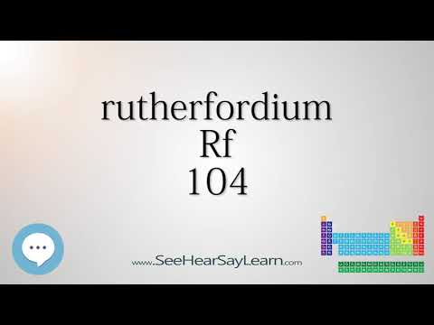 rutherfordium - Periodic Table of Elements ⛏🔊