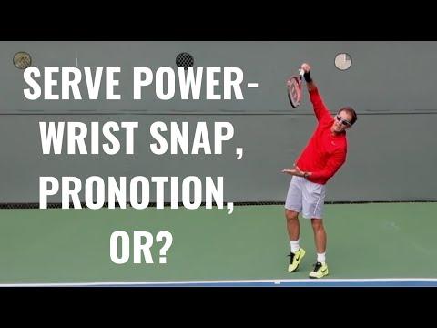 Serve Power - Wrist Snap, Pronation, Or?