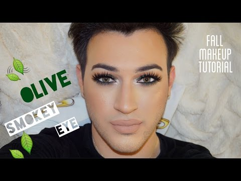 olive-green-smokey-eye- -fall-makeup-tutorial- -mannymua
