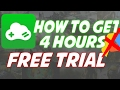 How To Get 4 Hours Free Trial On Gloud Games