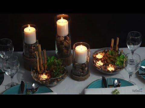 Diy Candle Light Dinner Decoration Ideas Youtube