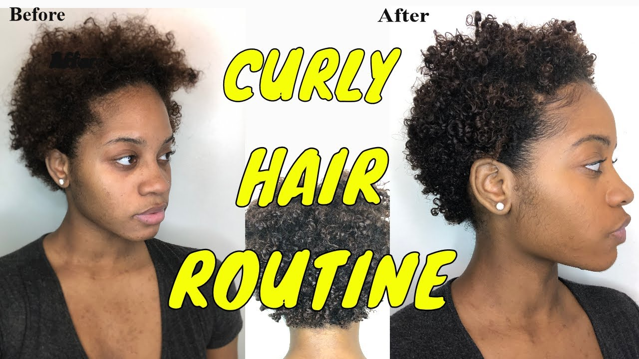 Curly Hair Routine On Short Type 4 Hair Wash And Go For Short Natural Hair