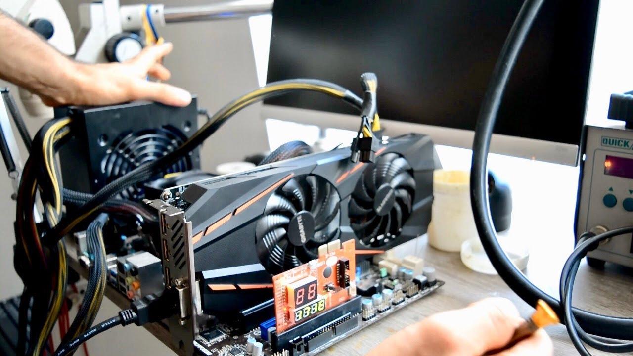 GTX 1060 no video repair process + motherboard repair easy fix graphic card  repair