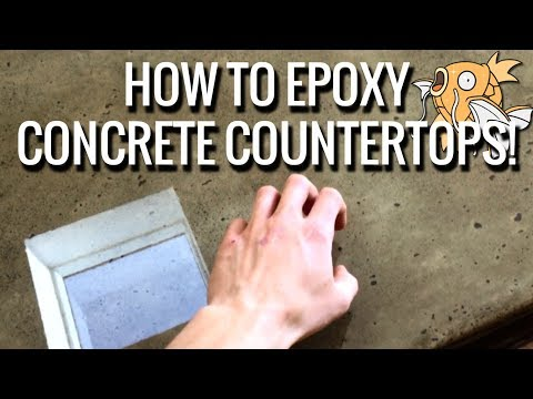 How to Epoxy / Seal a Concrete Worktop / Countertop with Glasscast 3 Epoxy Resin