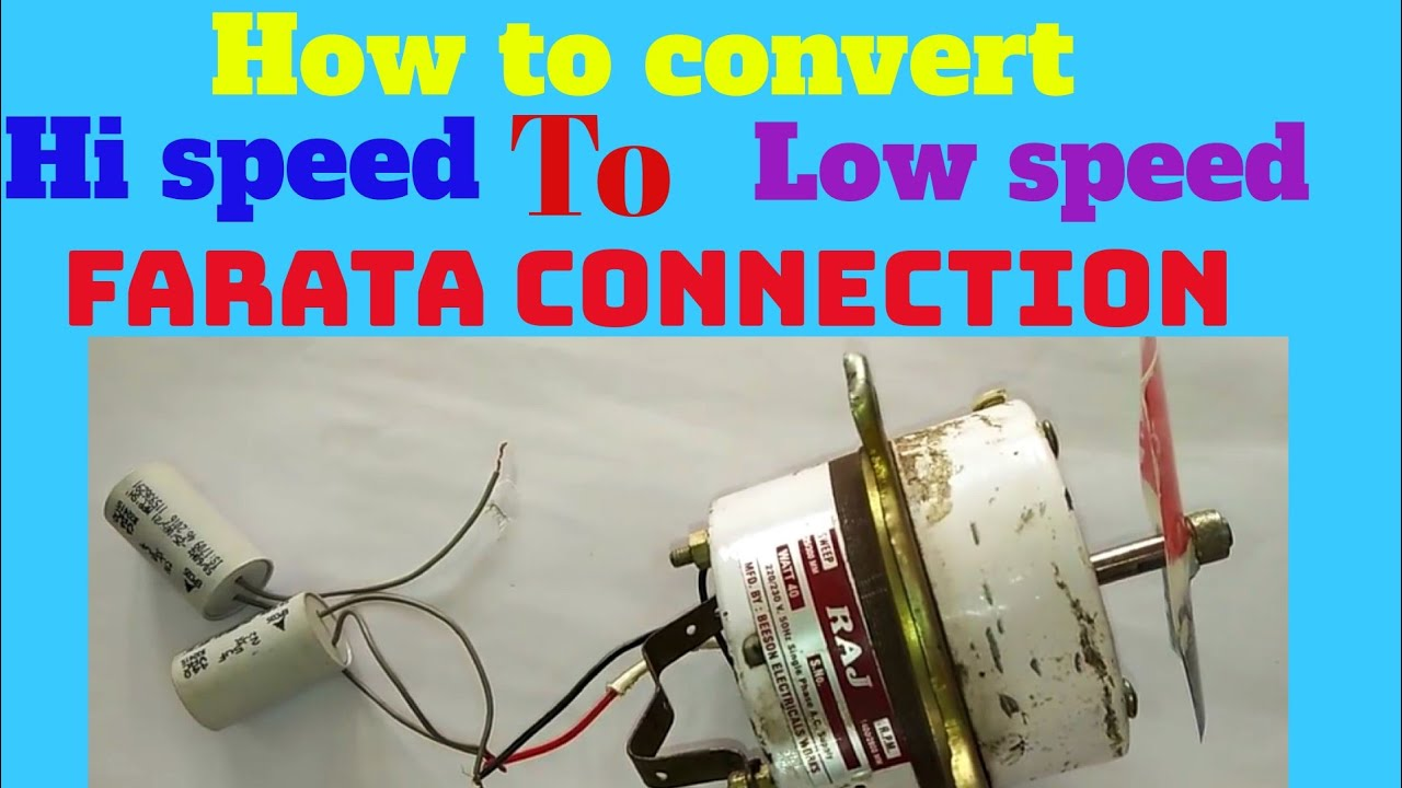 How To Convert Farata Connection High Speed To Low Speed