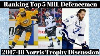 Top 5 NHL Defenceman - Norris Trophy Candidates 2018