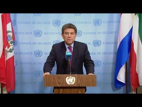 Gustavo Meza-Cuadra (Peru) on the Recent Attacks Against MINUSMA - Media Stakeout (18 Apr 18)