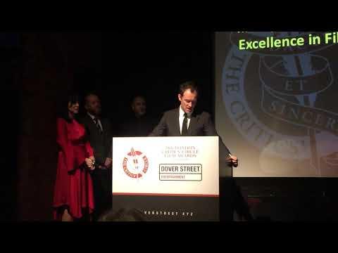 Jude Law introducing Kate Winslet at the London Critics Circle awards