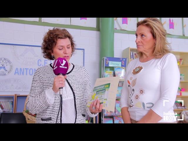 """VÍDEO: El Colegio Antonio Machado entrega a la AECC los más de 1.860 euros recaudados a través de la carrera """"Estrella Solidaria"""""""