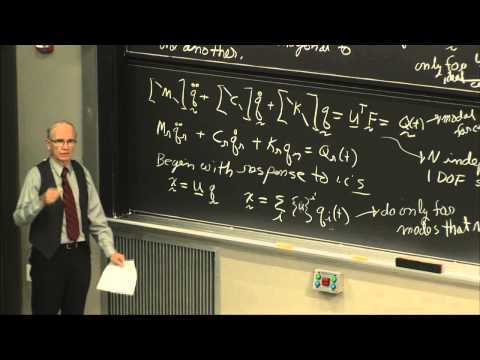 24. Modal Analysis: Orthogonality, Mass Stiffness, Damping Matrix