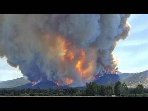 Time Lapse: Roaring Lion Fire, Bitterroot National Forest, Montana