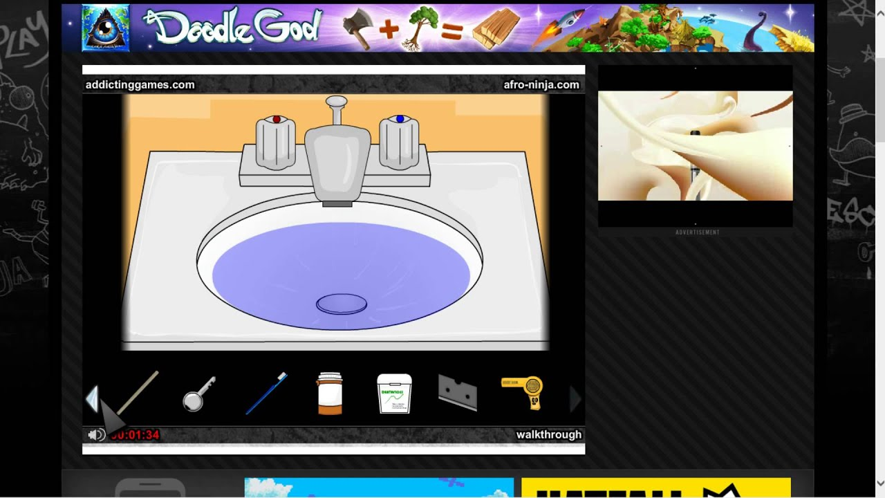 Addicting Games-- Escape the Bathroom walk through - YouTube