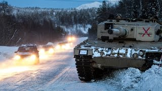 Norwegian Army Armoured Battalion Live Fire Demonstration