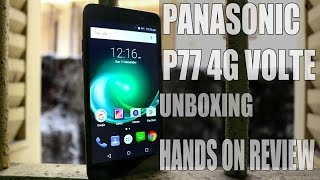 Panasonic P77 4G VOLTE Smartphone Unboxing And Review Android Buddy
