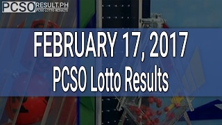 PCSO Lotto Results February 17, 2017 (6/58, 6/45, 4D, Swertres & EZ2)