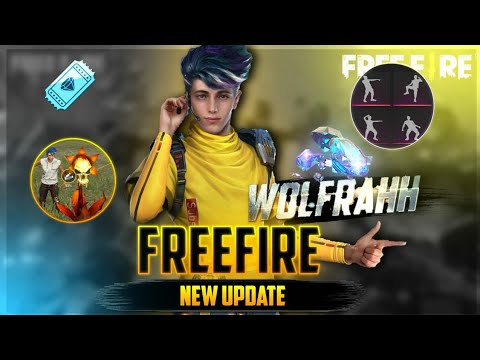 NEW UPDATE FREE FIRE| NEW CHARACTER| NEW PET | NEW EMOTES| FREE FIRE BATTLEGROUND