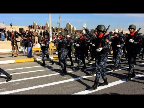Military parade held in Mosul to celebrate victory over IS group