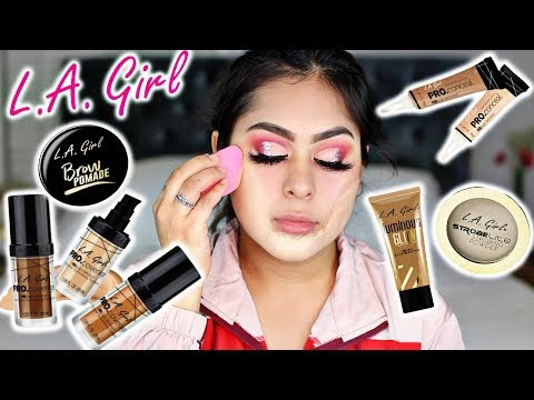 TRYING LA GIRL MAKEUP For The First Time EVER! OMG
