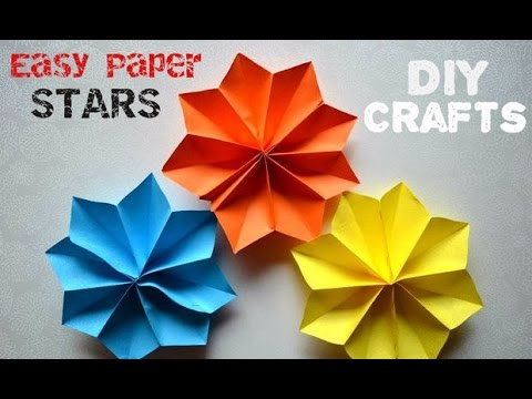 diy paper crafts - how to make easy stars - party decoration ideas