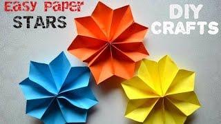 DIY Crafts Tutorials - Easy Paper Stars - Party decoration ideas - Giulia