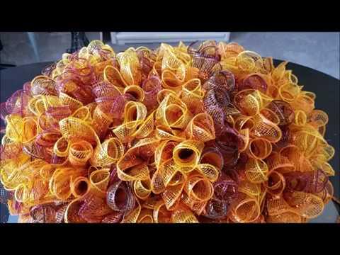DT pumpkin wreath form diy