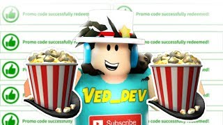 NEW ROBLOX PROMO CODE! *FREE SHOWTIME BLOXY POPCORN HAT*!