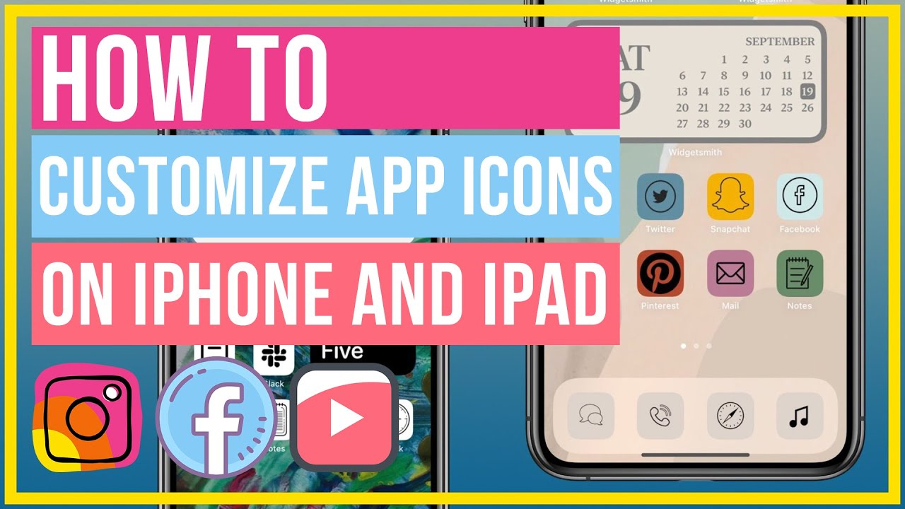 How To Customize App Icons On iPhone and iPad   Custom Icons