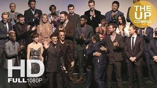 Avengers Infinity War premiere screen presentation in Los Angeles