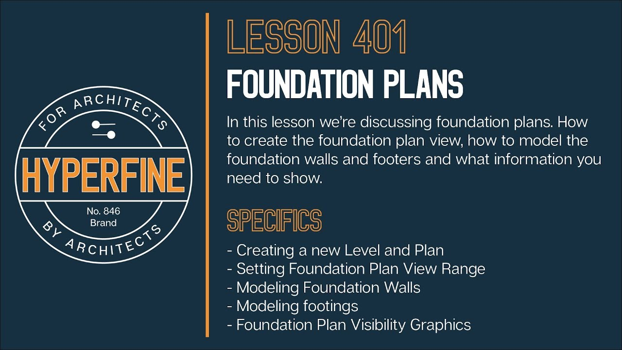 Revit Foundation Plan Tutorial