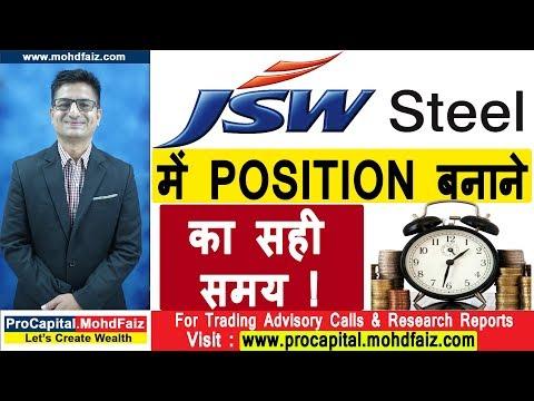 JSW STEEL में POSITION बनाने का सही समय !