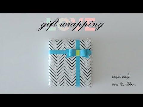 Paper Craft Bow & Ribbon for Gift Wrapping Tutorial (ASMR Paper Folding)