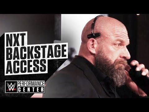 Rare behind the scenes access at NXT TV