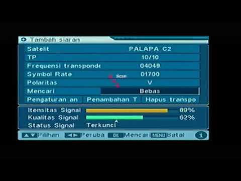 cara seting tv9 satelit palapa D