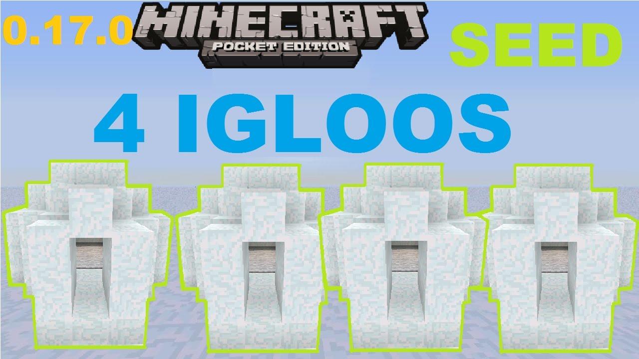 Mcpe 1 0 0 Crazy Quadruple Igloo Seed 2 Snow Villages 0 17 0 Update Best Igloo Seed