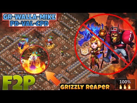INSANE DUNGEON 7/10 | GRIZZLY REAPER | NO Anubis - Espirita | F2P [ CASTLE CLASH ]