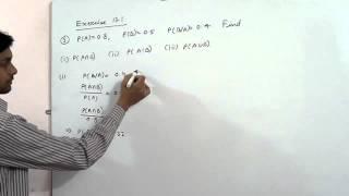 3  If  P A = 0 8,  P B = 0 5 and P BA = 0 4, find i P A ∩ B ii PAB iii PA ∪  B